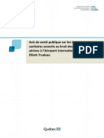 Montreal Public Health report on airport noise