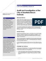 Audit and Investigation of the City of Deerfield Beach Festivals