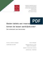 eindwerk tablets steven verheyden