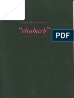 Rhubarb Food Design - Canapes List