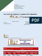 Proyecto de Criterios y Pautas de Evaluación
