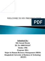 Welcome to My Presentation(Sazzad)