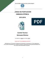 Codigo Puntuacion 2013-2016