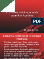Economie Rurală-economie Urbană În România