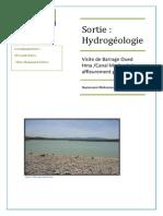 Sortie d'Hydrogéologie