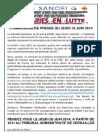 20140619 Communiqué de Presse
