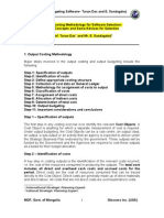 Output Costing Methodology for Software Selection