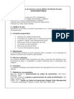 Modelo de Plano de Aula Para a Prova Didática de Seleção Docente