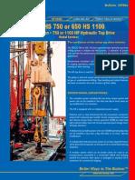 20700e - 500 HS 750 - 650 HS 1100