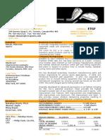 E21-Exec Summary 2 Page OCT 09