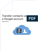 Transfer Contacts Using a Google Account US