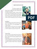 Heroes Ilustrees y Militares Del Peru 2014