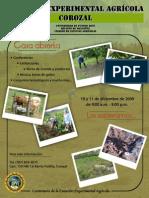 Cartel de promoción casa abierta en Subestación de Corozal