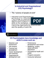 Industrial and Organisational Psychology IOP