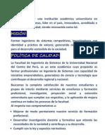 VISIÓN Mision Politica