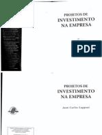 Livro Projetos de Investimento Na Empresa
