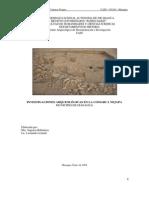 Informe Preliminar Arqueología Nejapa, Managua, Nicaragua. 2008
