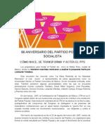 66 Aniversario Del Partido Popular Socialista