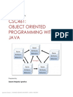 CSC461-Objected Oriented Programming