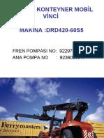 Container Stacker - Kalmar DRD 420 Brake Pump