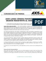 Axis lanza cámara panorámica 360 grados resistente al vandalismo