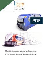 Mobilicity Driverless Urban Transport System