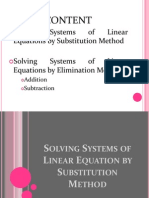 Systems of Linear Equation