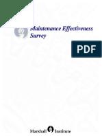 Mainteance Effectiveness