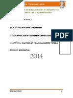 Informe de La Nivelacion Geometrica Simple Topo Anet