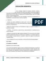Legislacion Ambiental Informe Completo