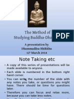 Study Method of the Buddha