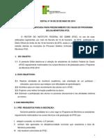 Edital de Monitoria Alterado 05 de Maio l de 2014