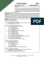 Plano de Curso- Psicologia Ciência e Pratica Profissional