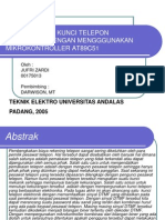 Perancangan Kunci Telepon Elektronik Dengan Mengggunakan Mikrokontroller At89c51