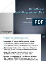 Water/Sewer Capital Improvement Plan