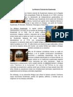 La Historia Colonial de Guatemala