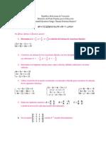 Guia de Ejercicios de Matematica Para Quinto Ayo Segundo Lapso