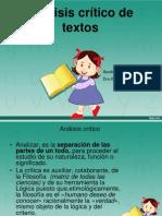 Analisis Critico de Textos