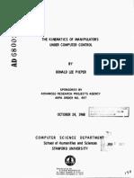 The Kinematics of Manipulators Under Computer Control - D. Pieper