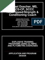 Explosive Training Programing for Sport