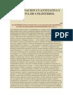 Determinacion Cuantitativa y Cualitativa de Colesterol