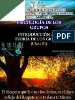 CLASE 1 Introducción a La Teoría de Los Grupos PSICOLOGIA de LOS GRUPOS Parte 1