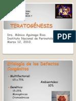 Teratogenesis Congreso Morelia 2010