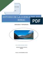 Estudio de La Cuenca Del Rio Rimac