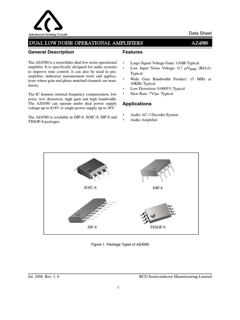 Datasheet pdf lm4580
