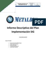 AVANCE III - Informe Descriptivo Del Plan Implementación SIG