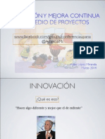 Innovacion y Mejora Continua via Proyectos