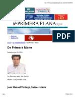 16-06-14 De Primera Mano - Columna Ruiz Quirrin