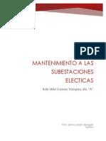 Mantenimiento a Subestaciones Electricas