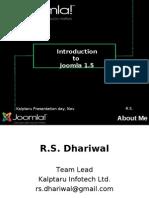 Presentation On joomla- R. S Dhariwal